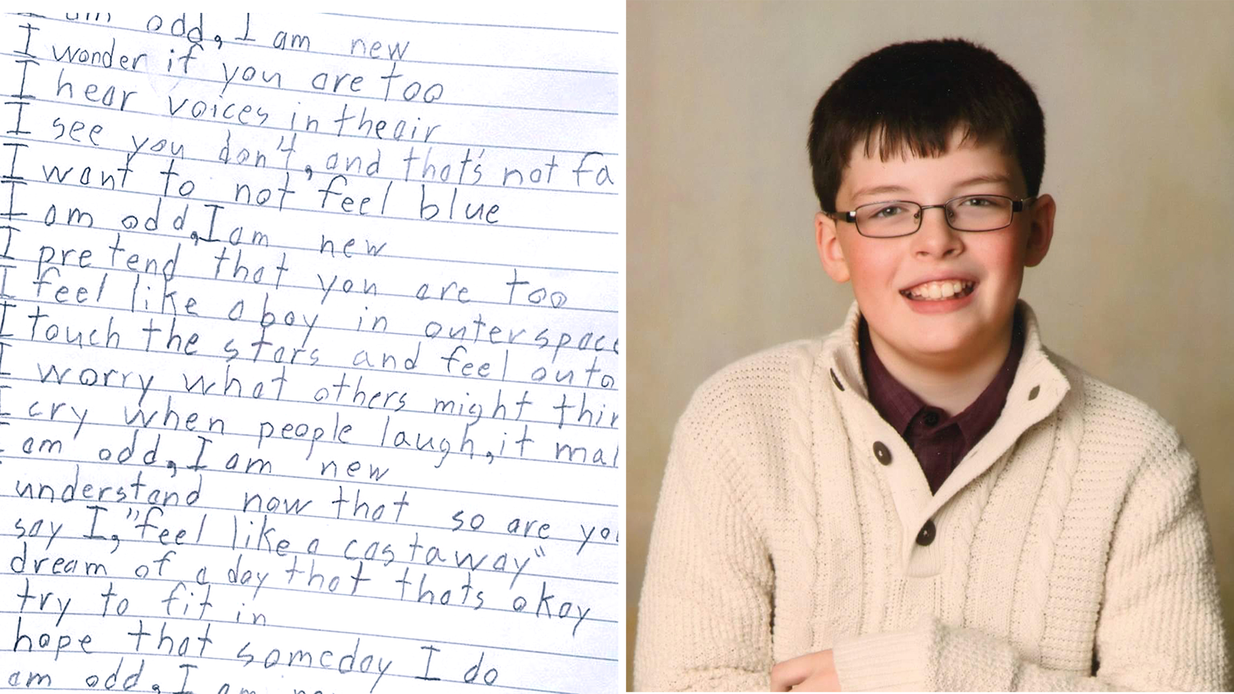 10-year-old writes beautiful poem about life with Aspergers